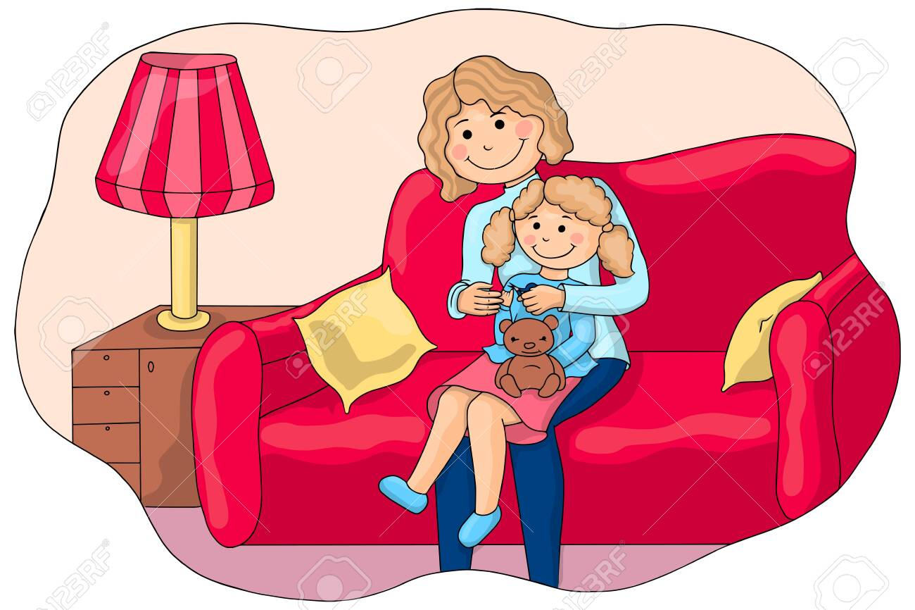 Mom Cuts Her Nails To Her Little Daughter Children Vector Illustration Bright Illustration Textbook For Children Baby Hygiene Royalty Free Cliparts Vectors And Stock Illustration Image 134954759