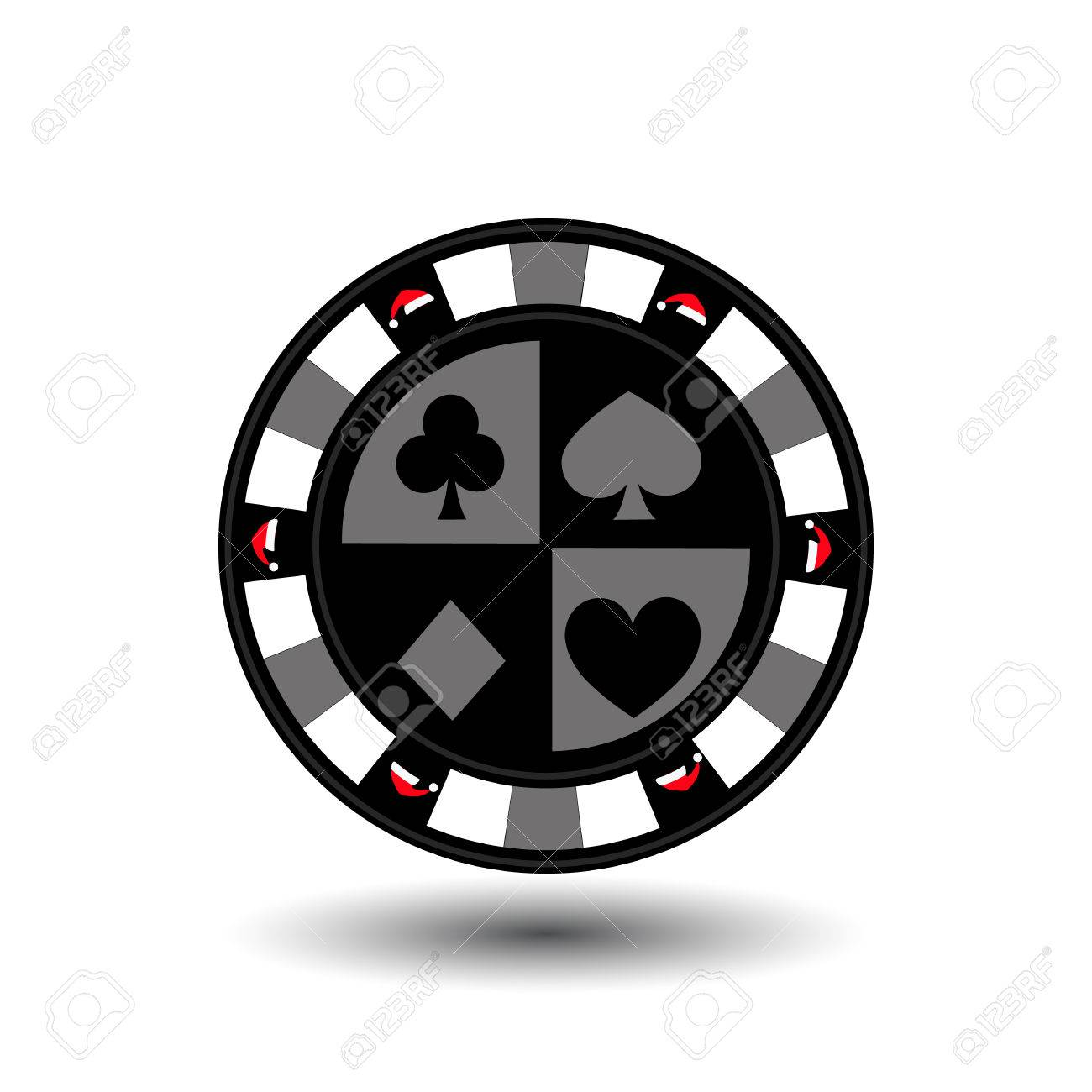 Chip-Poker-Casino Weihnachten Neue Jahr. Symbol Vektor-Illustration ...
