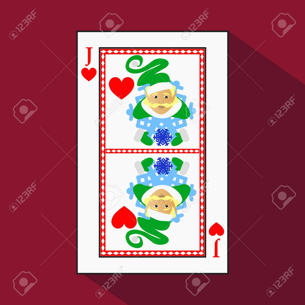 Joker Christmas.Playing Card The Icon Picture Is Easy Heart Jack Joker New