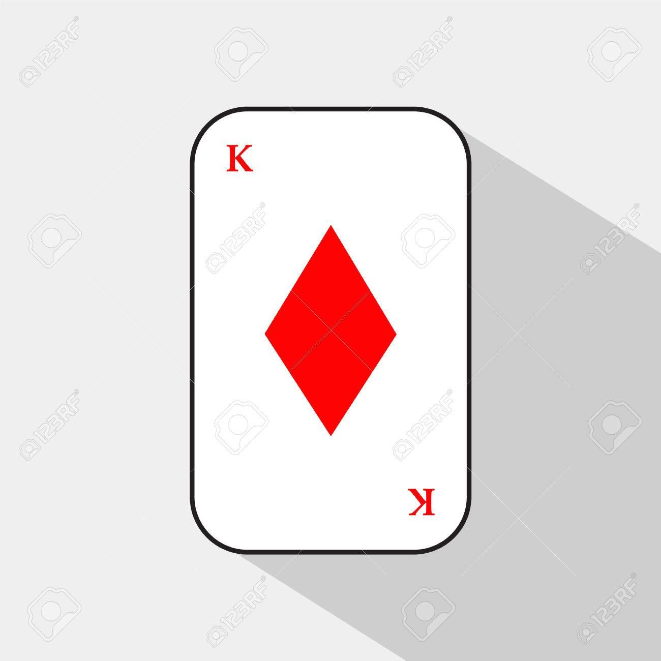 火かき棒カード。キング ダイヤ...