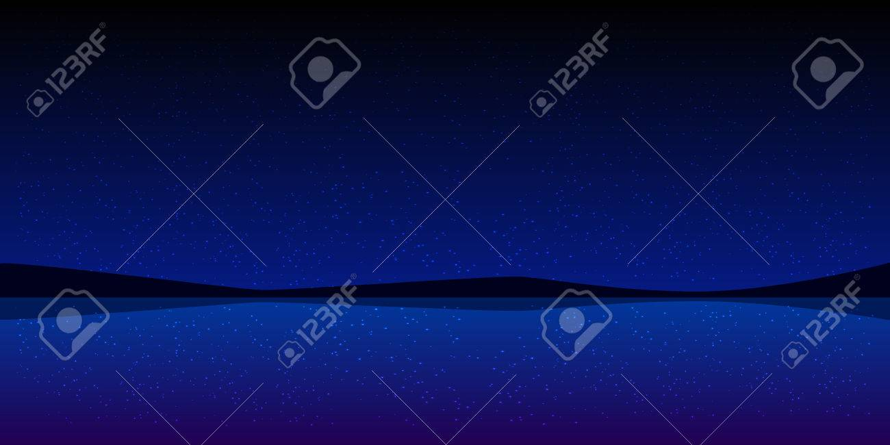 夜の空の水風景の壁紙の背景 イラスト Web サイト スマート フォン