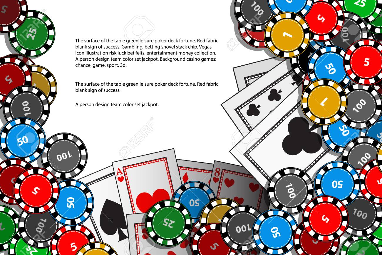 Juego De Casino Las Tarjetas Y Los Chips Se Colocan En El Texto Ilustración Para Imprimir Sitio Web Teléfono Inteligente Fondo De Pantalla
