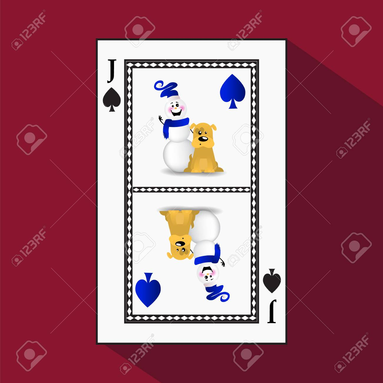 Card New Years Poker Vector Illustration The King Is A Diamond