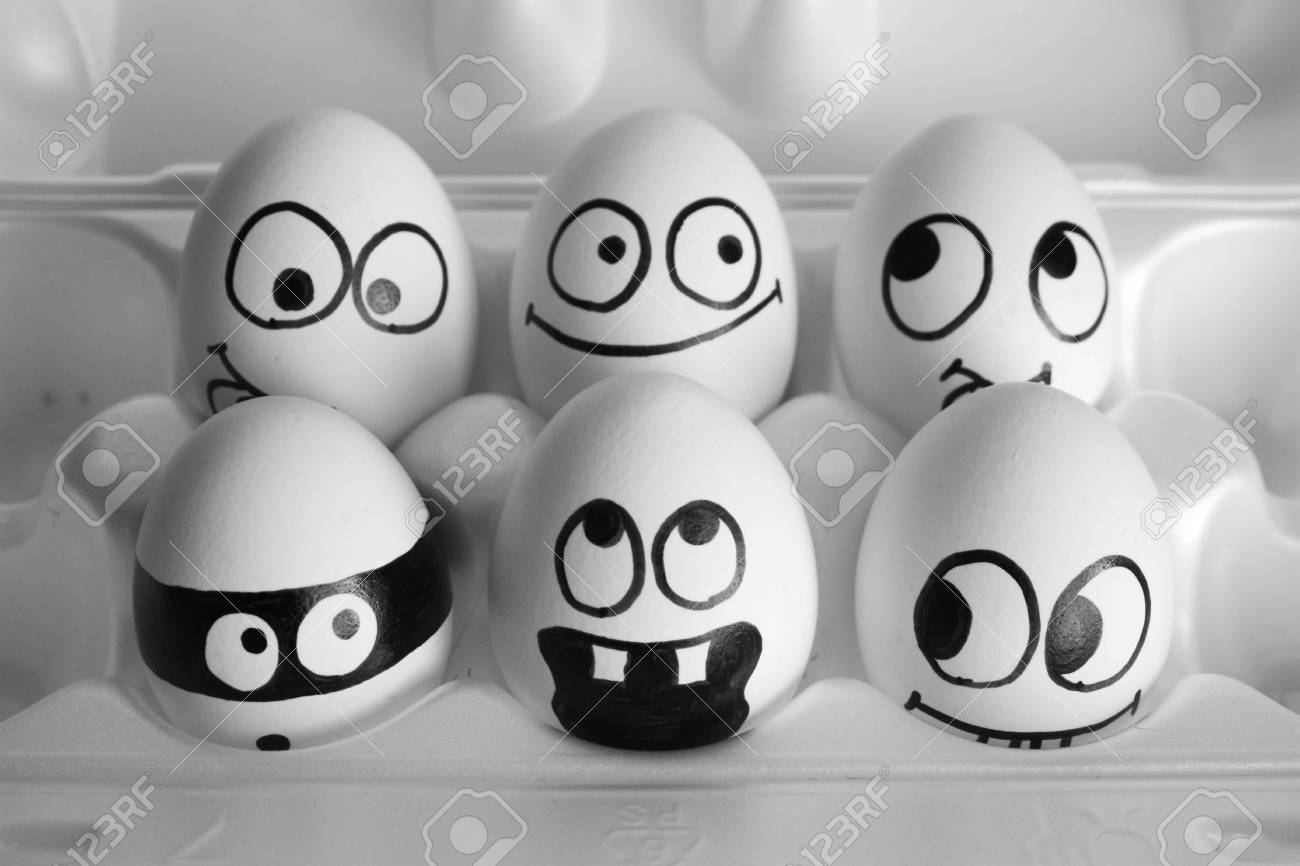 Surprise Concept The Eggs Are Funny And Cute Photo With Painted