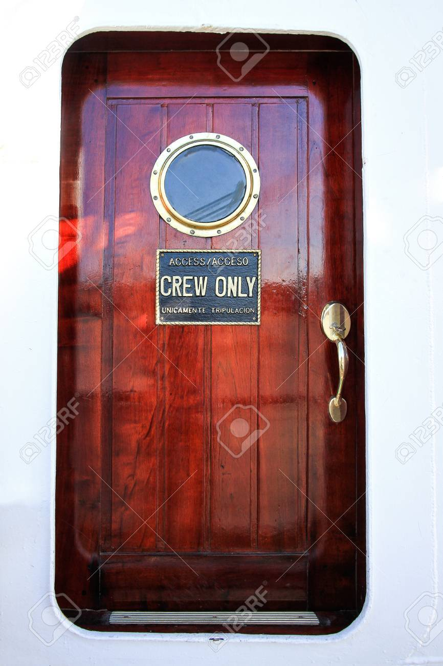 cabin door mahogany ship with portholes Stock Photo - 50090423 & Cabin Door Mahogany Ship With Portholes Stock Photo Picture And ...