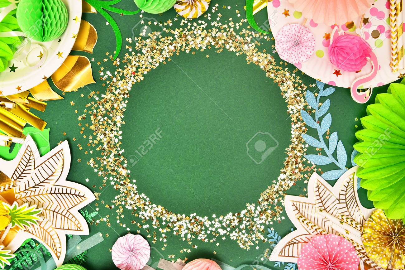 Christmas In Hawaii Party.Festive Background Tropical Theme Summer Hawaii Party Birthday