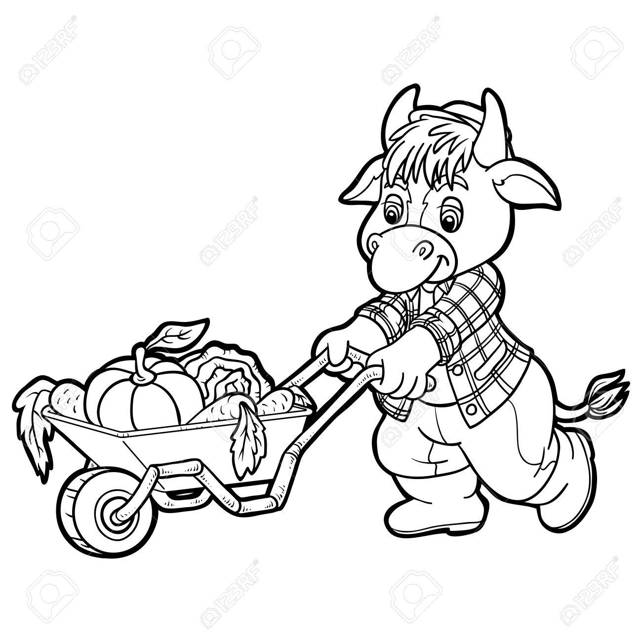 Coloring Book (cow) Royalty Free Cliparts, Vectors, And Stock ...