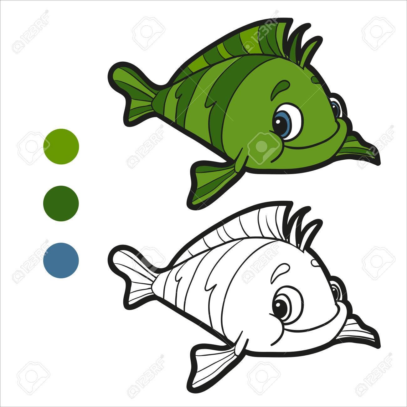 Coloring Book (fish) Royalty Free Cliparts, Vectors, And Stock ...