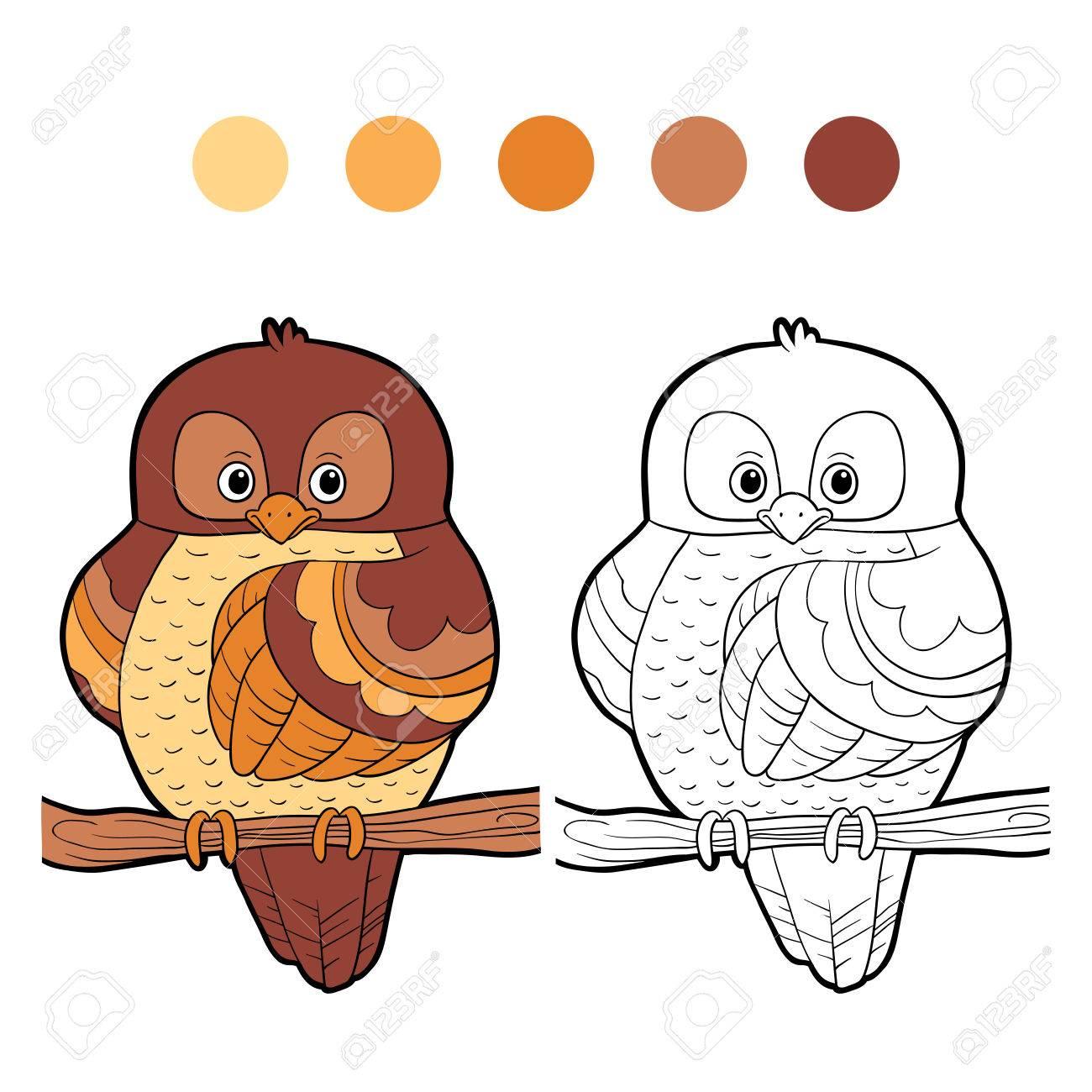 塗り絵 鳥のイラスト素材ベクタ Image 33956774