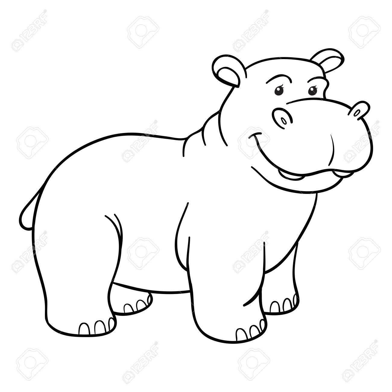 Livre à Colorier Hippopotame