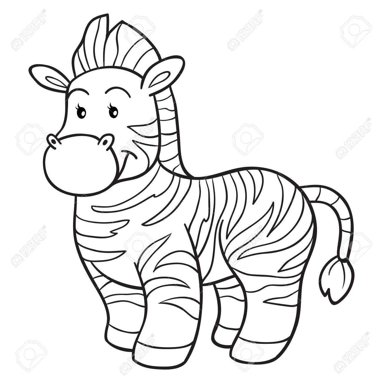 Coloring Book (zebra) Royalty Free Cliparts, Vectors, And Stock ...