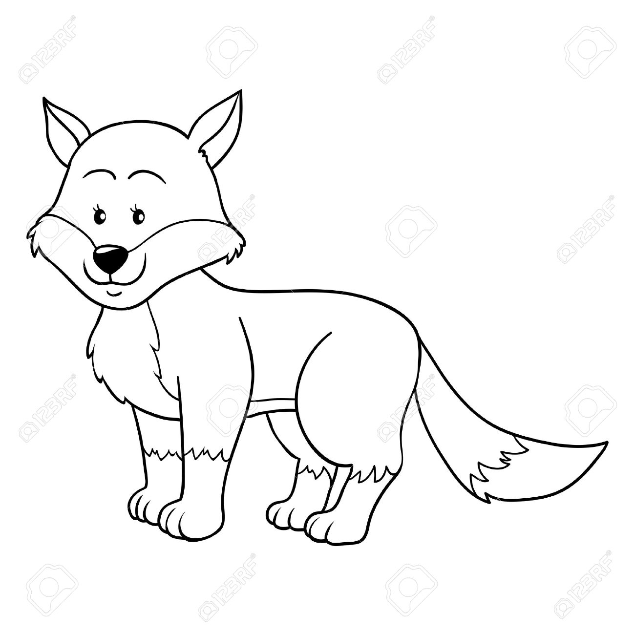 Coloring Book (fox) Royalty Free Cliparts, Vectors, And Stock ...