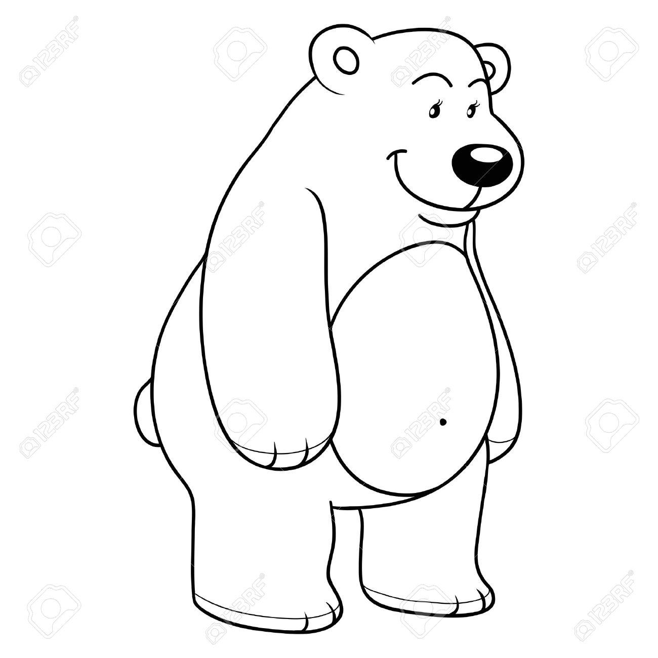 coloring book polar bear royalty free cliparts vectors and