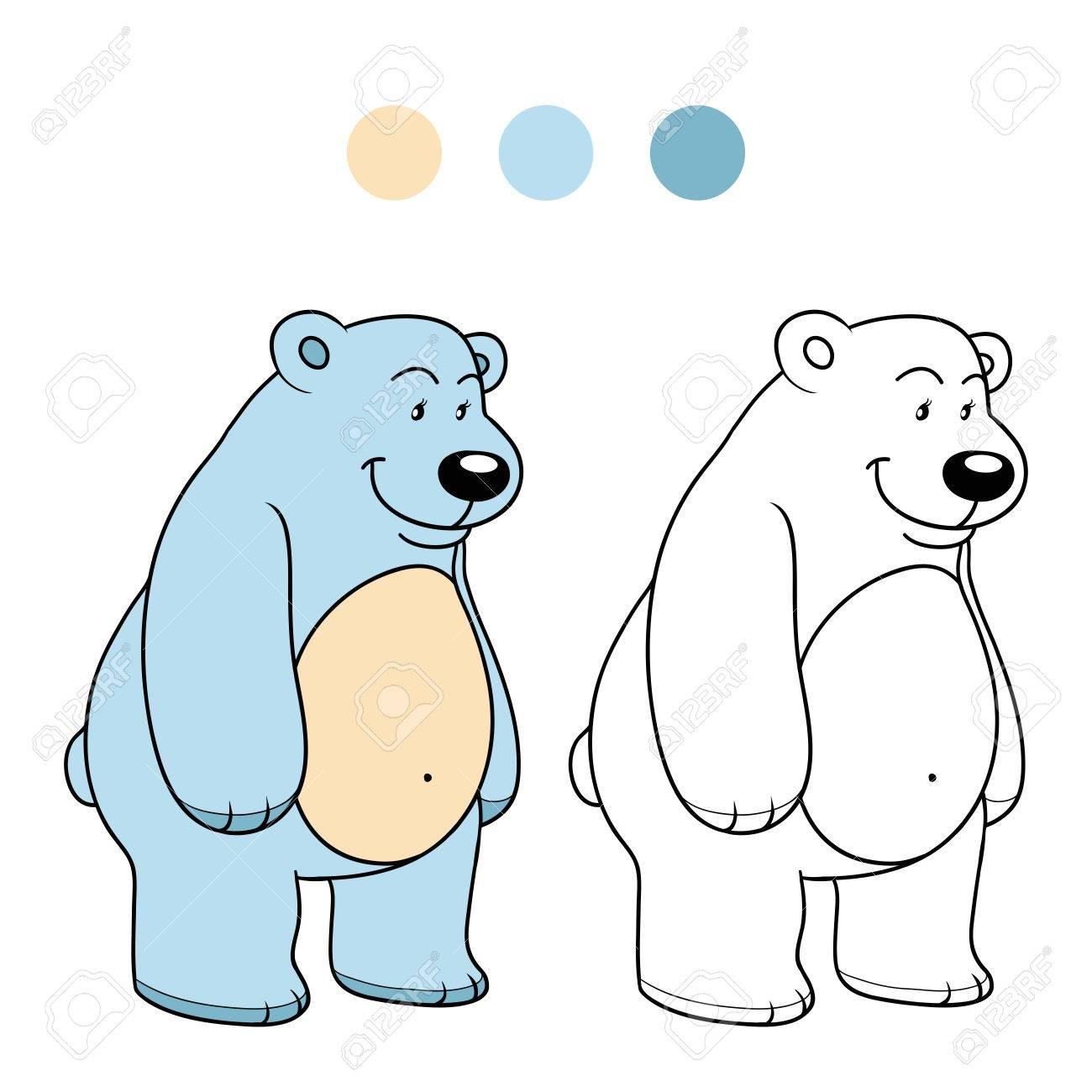 Coloring Book (polar Bear) Royalty Free Cliparts, Vectors, And Stock ...