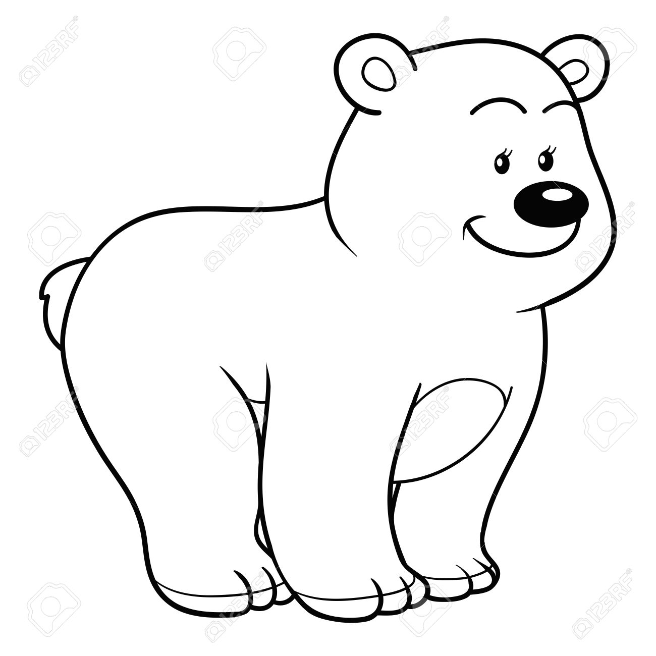 Coloring Book (bear) Royalty Free Cliparts, Vectors, And Stock ...