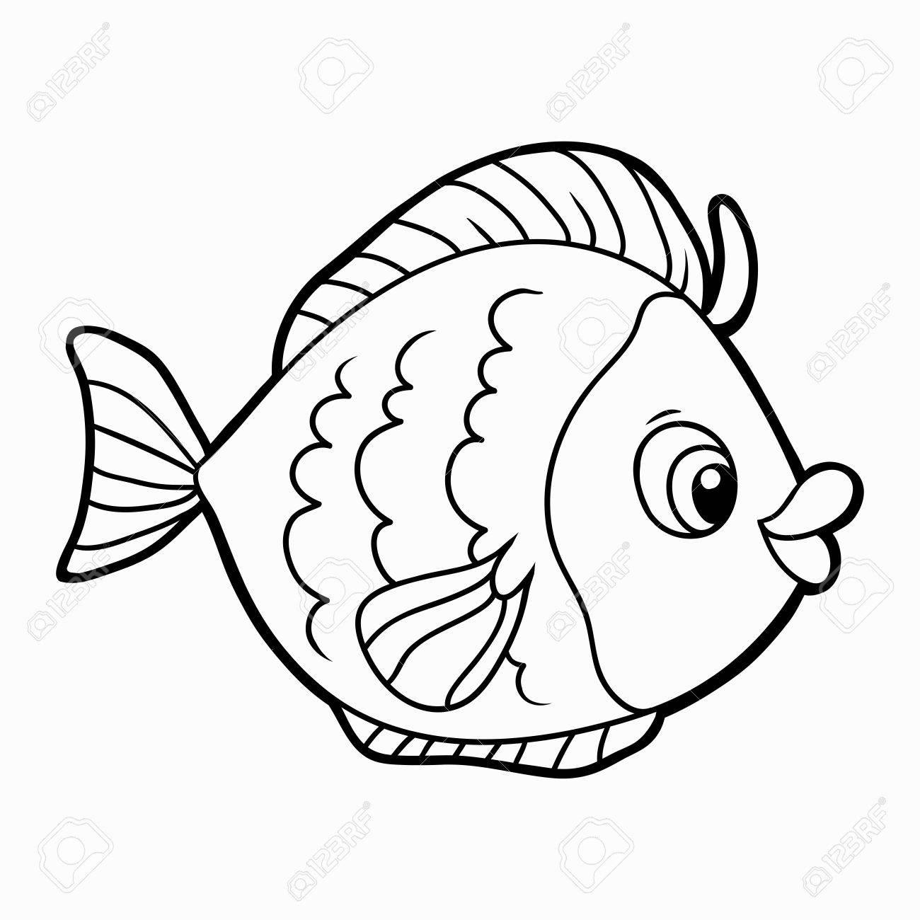 塗り絵 魚のイラスト素材ベクタ Image 34872399