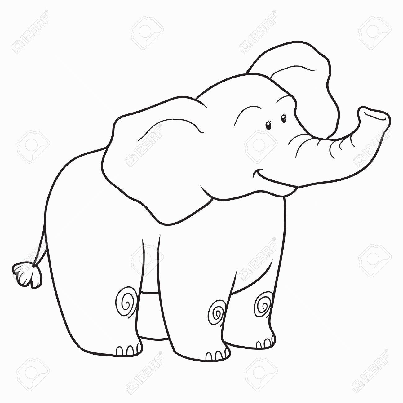 Bonito Colorear Cara De Elefante Componente - Enmarcado Para ...