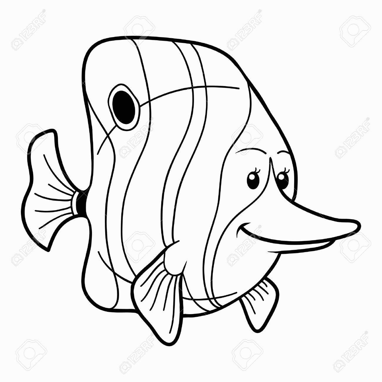 Coloring Book Fish Stock Vector