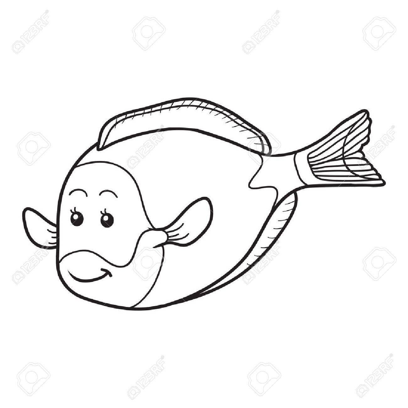 塗り絵 魚のイラスト素材ベクタ Image 36010562