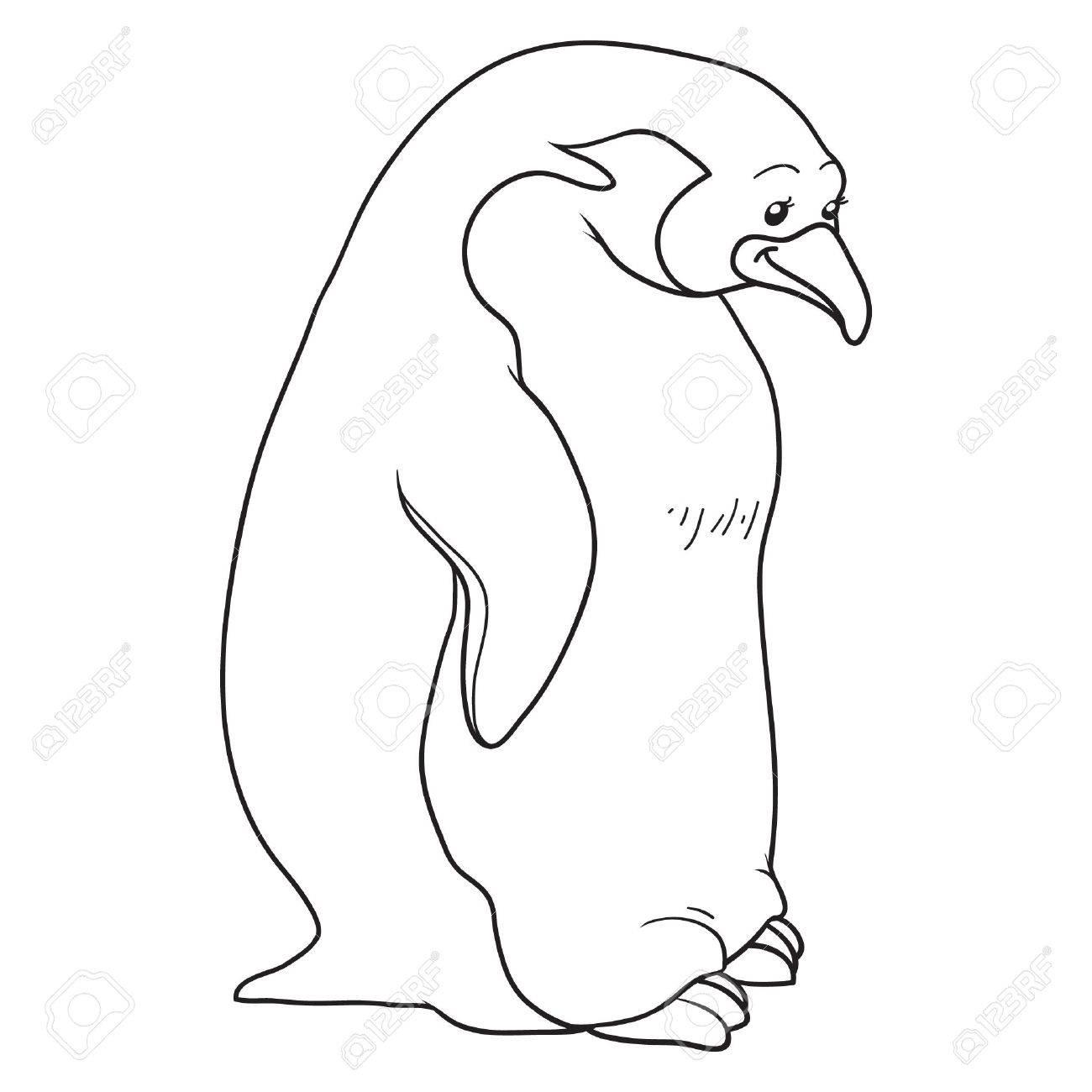 Libro Para Colorear (pingüino) Ilustraciones Vectoriales, Clip Art ...