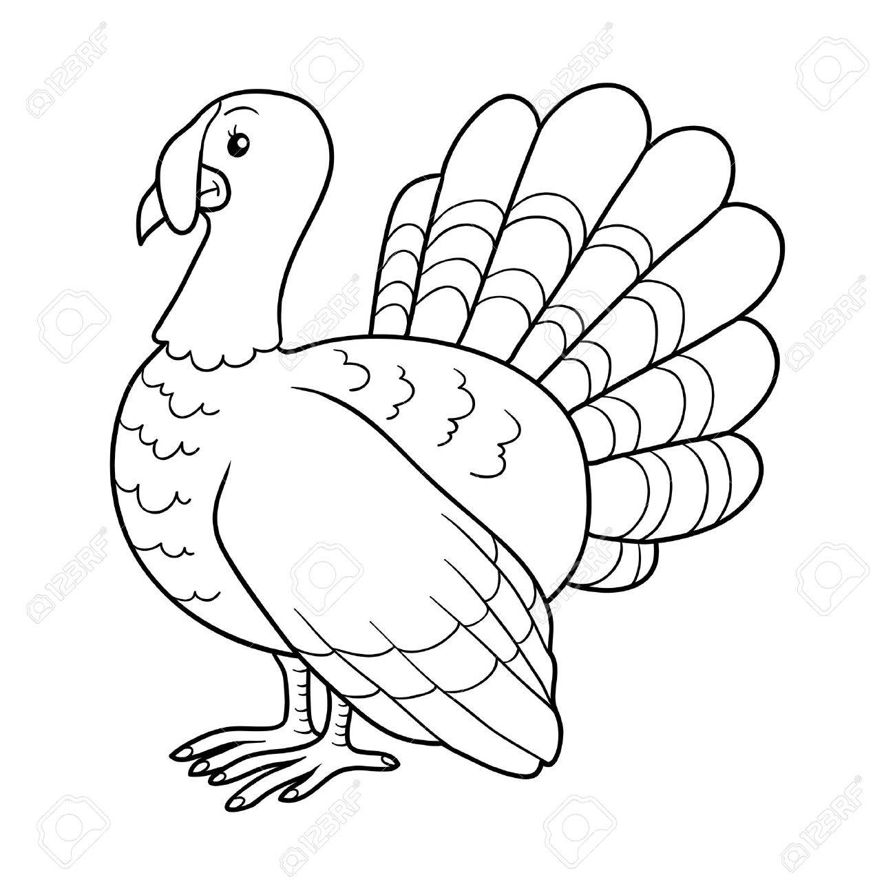 Game For Children: Coloring Book (turkey) Royalty Free Cliparts ...