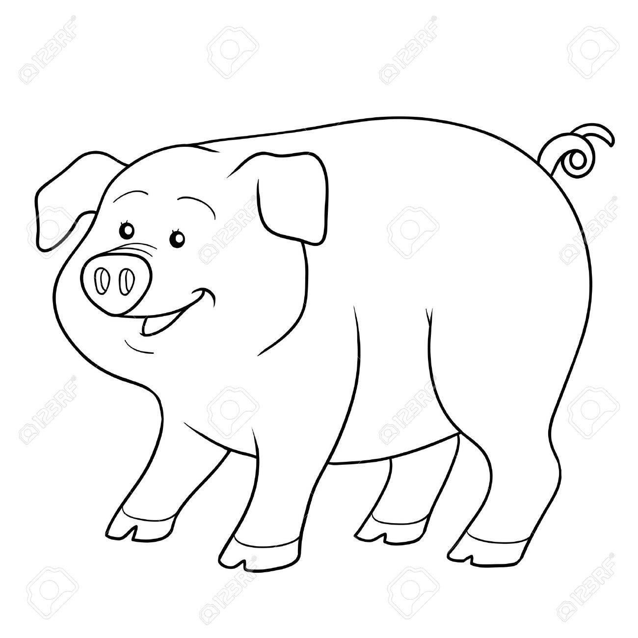 Cerdo Para Colorear Ninos Libro Para Colorear Para Los Niños Cerdo ...
