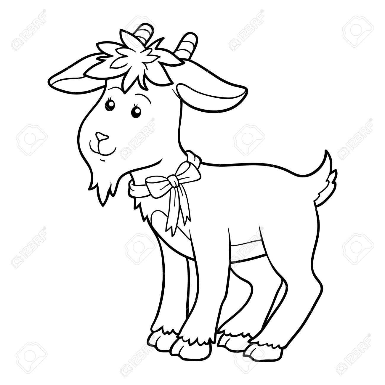 Game For Children Coloring Book Goat Stock Vector