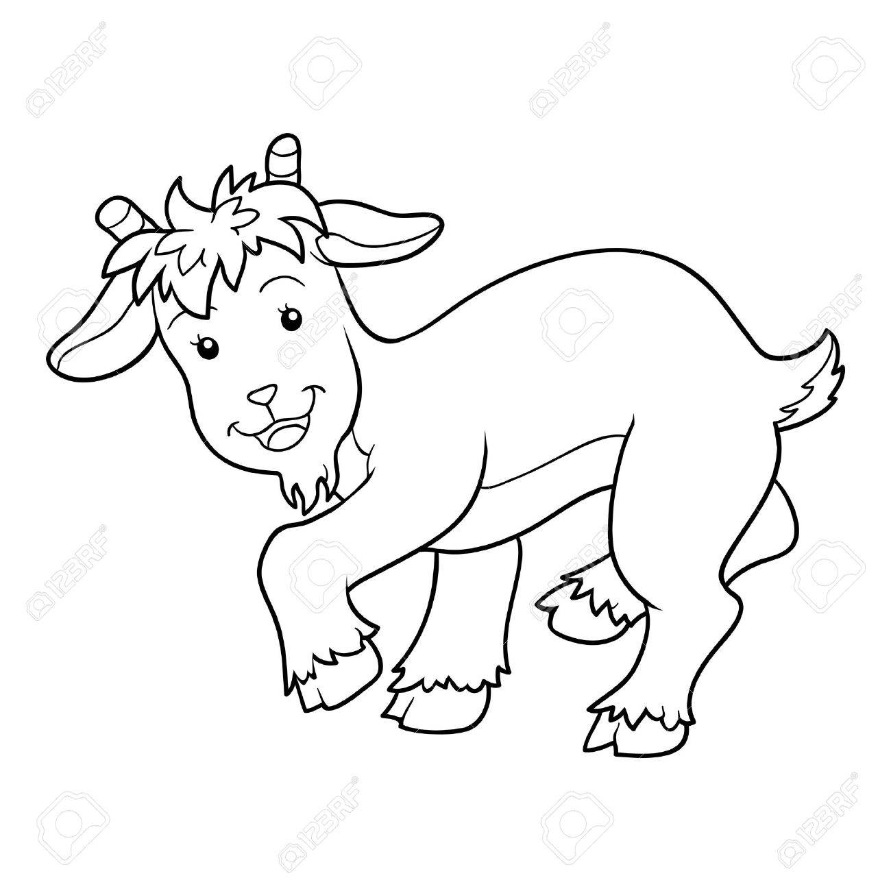 Coloring pictures goat - Game For Children Coloring Book Goat Stock Vector 40774345