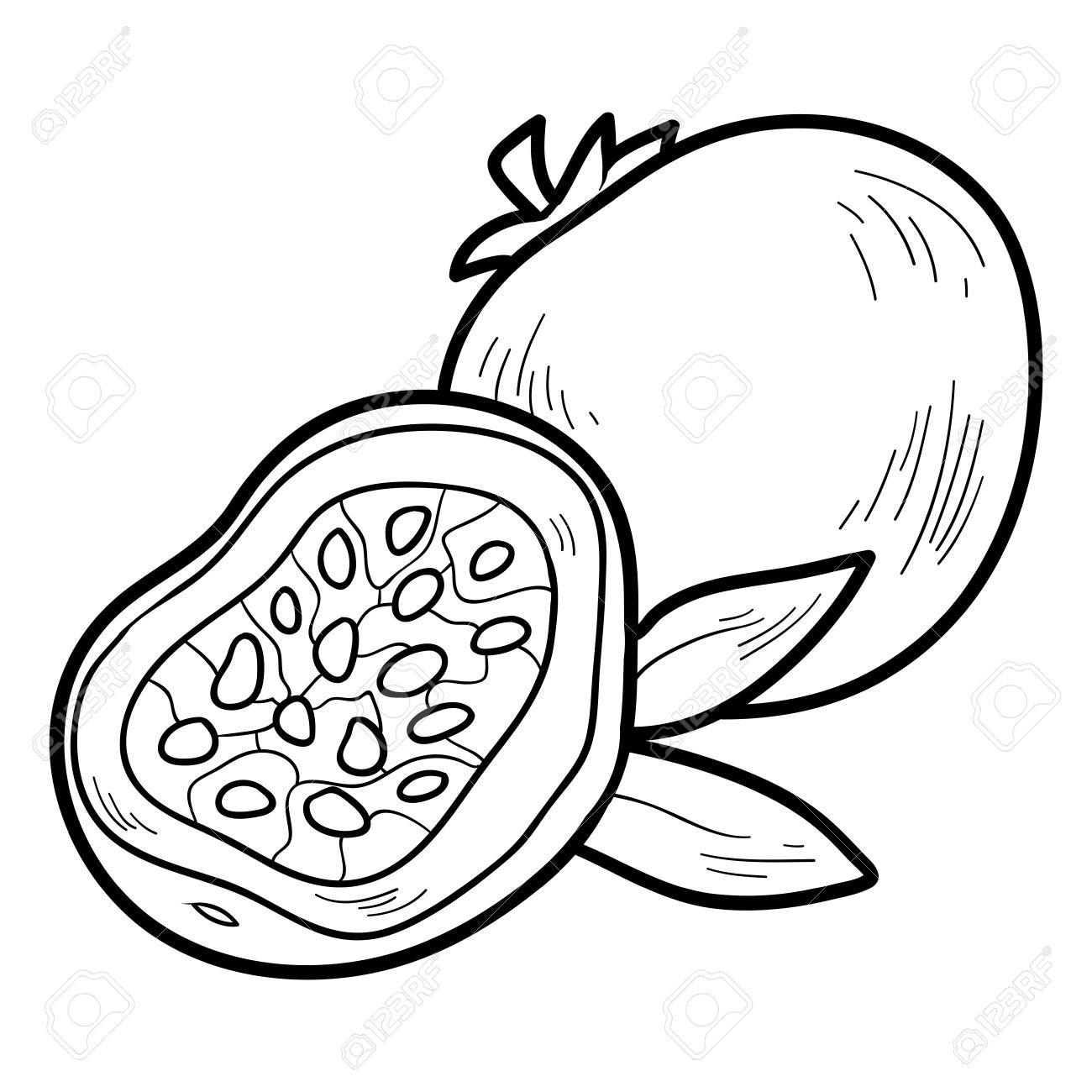 Libro Para Colorear Para Ninos Frutas Y Verduras Fruta De La