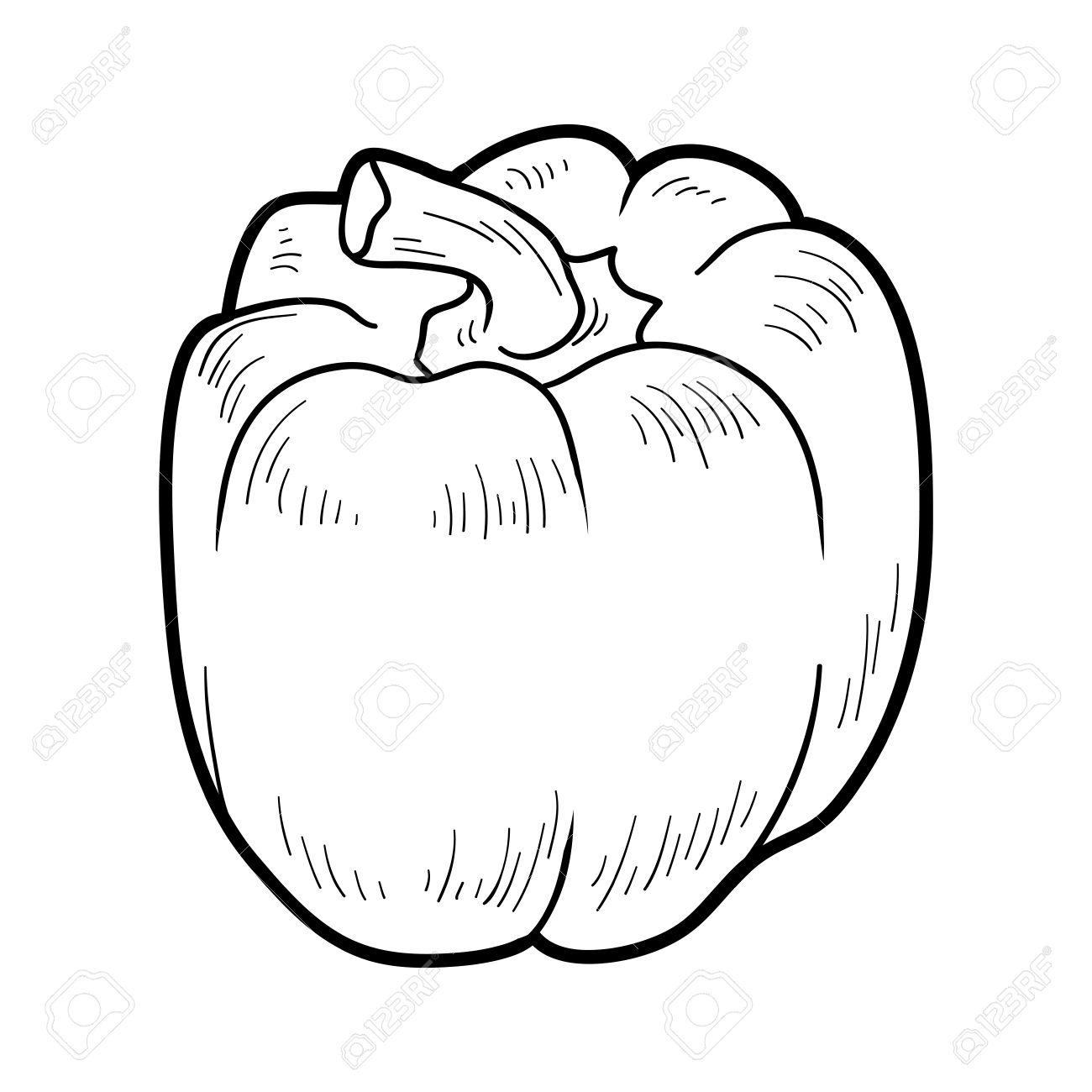 Libro Para Colorear Para Niños: Frutas Y Verduras (pimiento