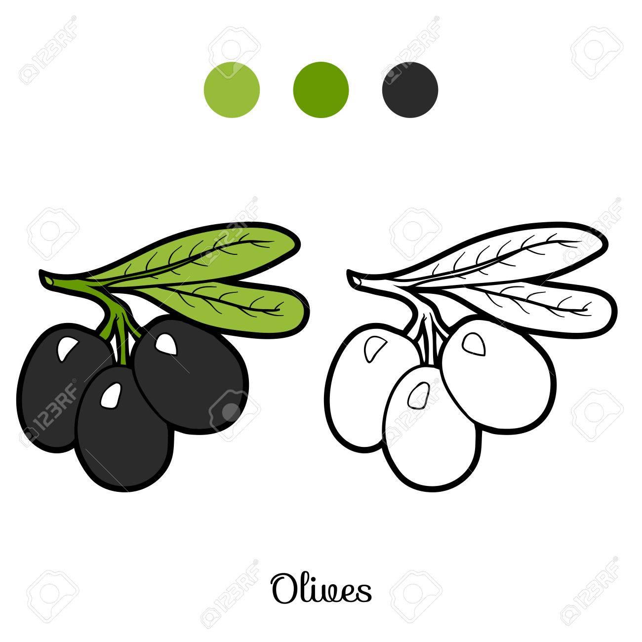 Libro Para Colorear Para Niños: Frutas Y Verduras (aceitunas