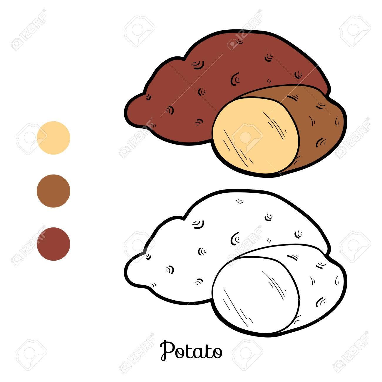 Jeu De Coloriage Livre Pour Enfants Les Fruits Et Legumes Pommes