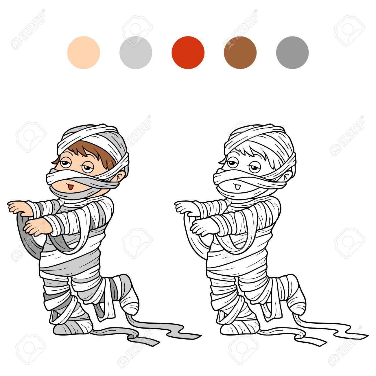 Libro Para Colorear Para Niños: Personajes De Halloween (traje De ...