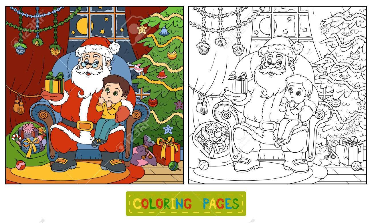 Schön Santa Claus Und Elfen Malvorlagen Galerie - Beispiel Business ...