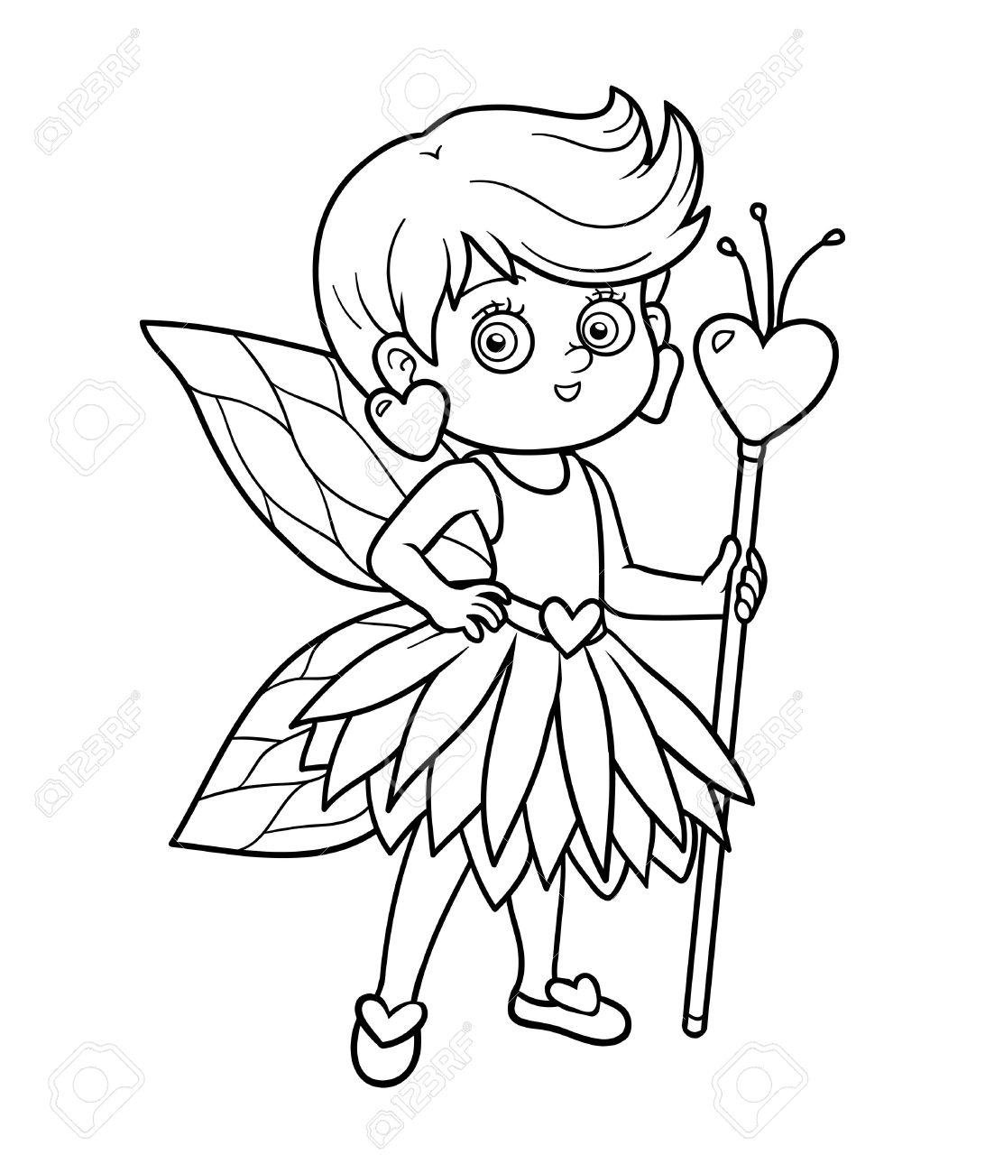 Libro Para Colorear Para Niños: Niña De Hadas Ilustraciones ...