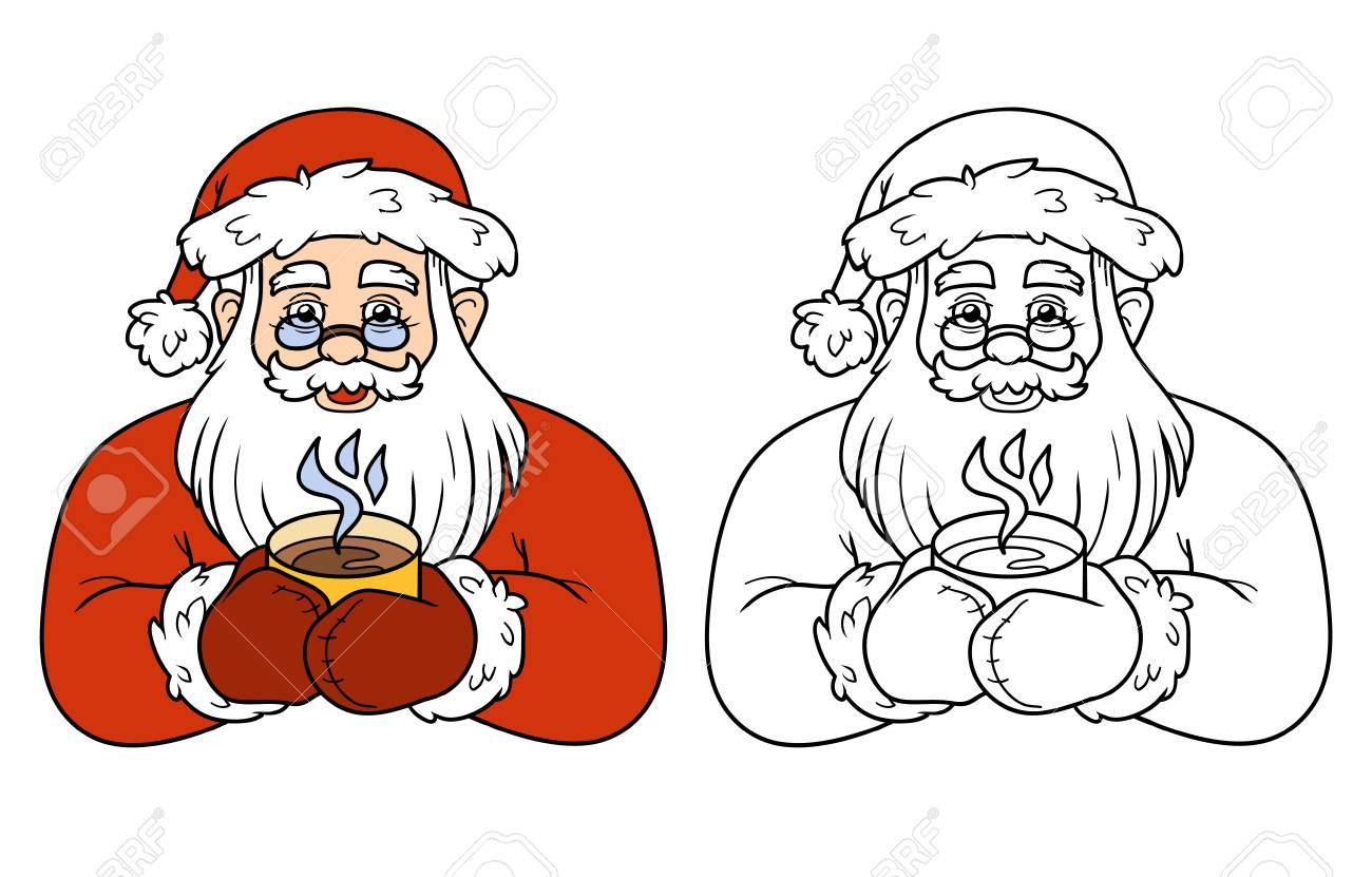 Libro Para Colorear Para Niños, Juego De La Educación: Santa Claus Y ...