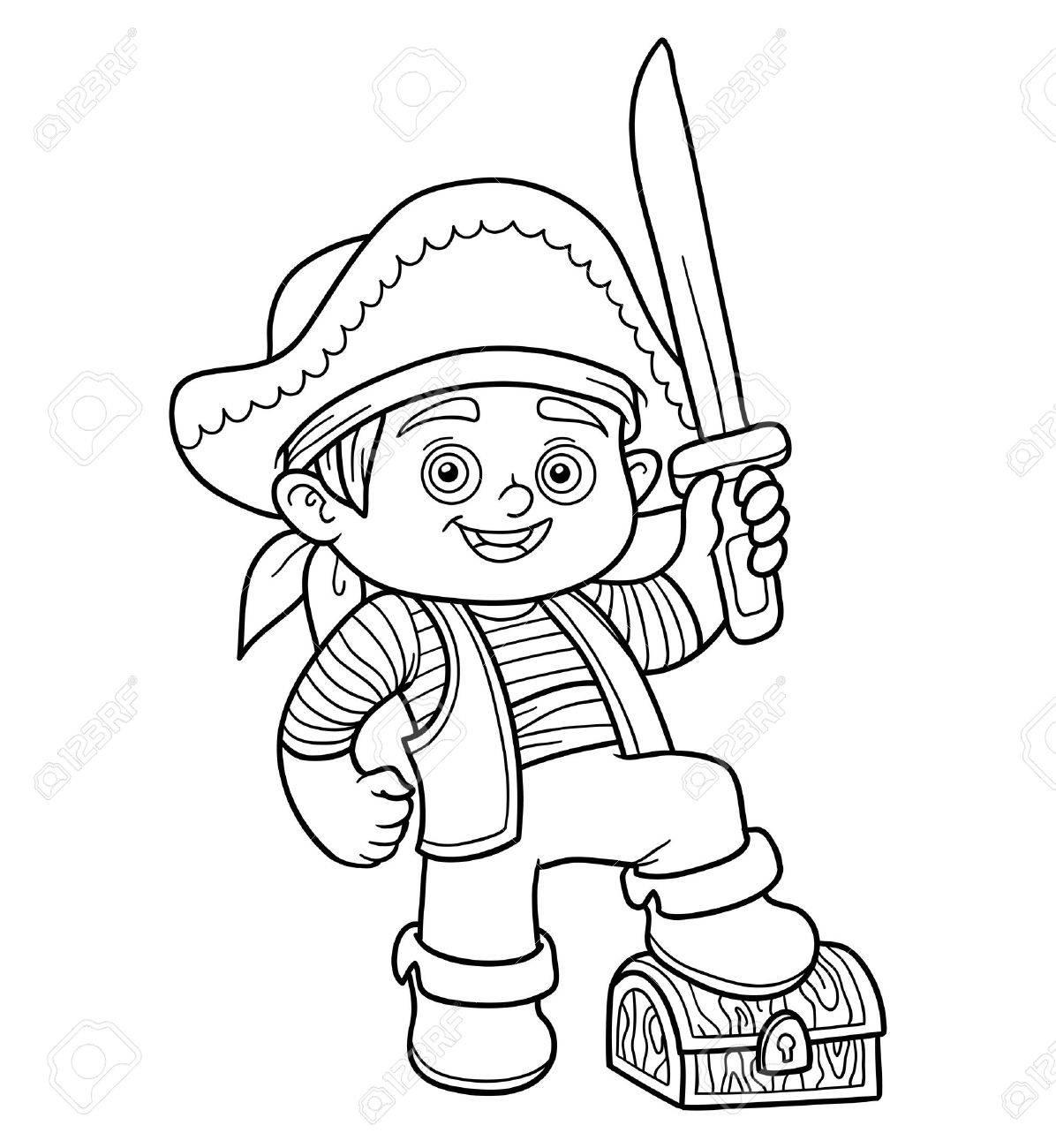 Livre De Coloriage Jeu Educatif Pour Les Enfants Garcon De Pirate Clip Art Libres De Droits Vecteurs Et Illustration Image 49794153