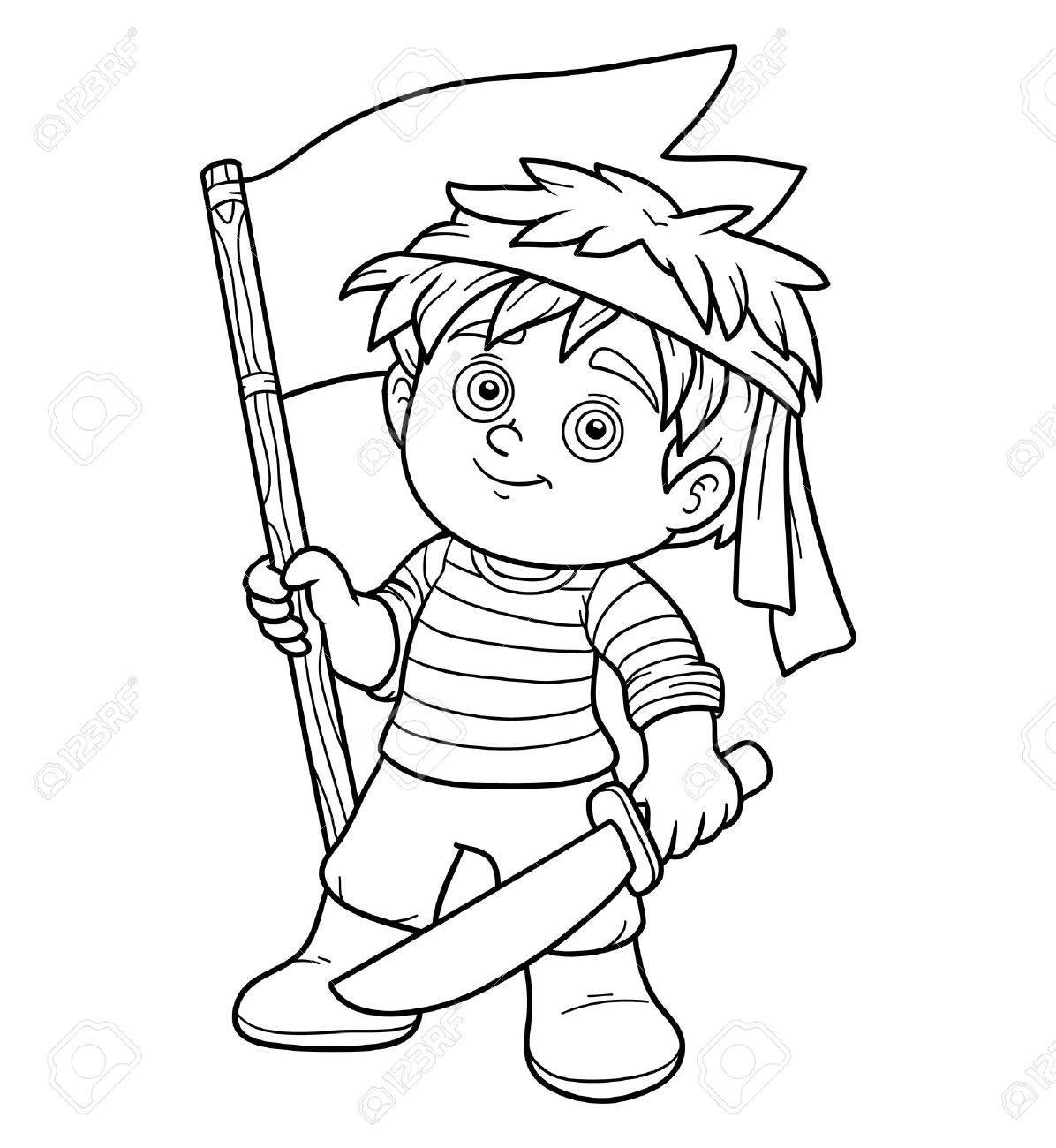 Livre De Coloriage Jeu Educatif Pour Les Enfants Garcon De Pirate Clip Art Libres De Droits Vecteurs Et Illustration Image 49794157