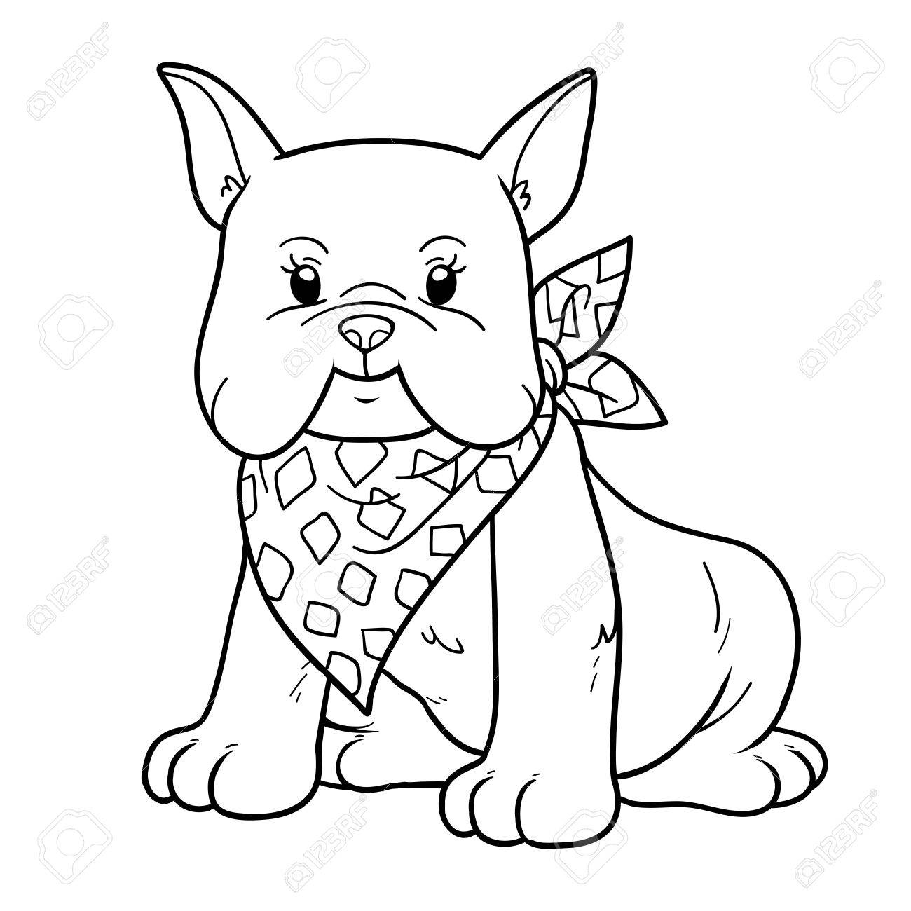 Coloring Book For Children (french Bulldog) Royalty Free Clip Artok ... b0ca4b9a14