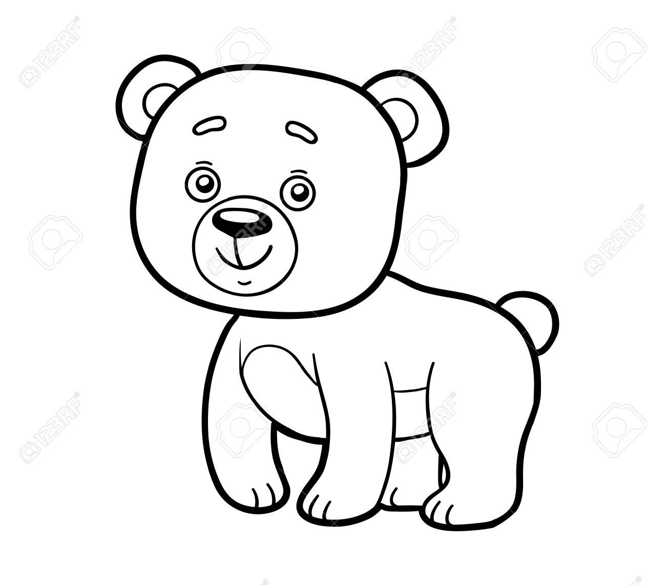 Hermosa Colorear Oso Bosquejo - Dibujos de Animales para Colorear ...