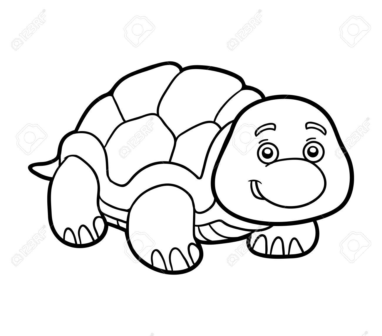 Malbuch Für Kinder (Schildkröte) Lizenzfrei Nutzbare Vektorgrafiken ...