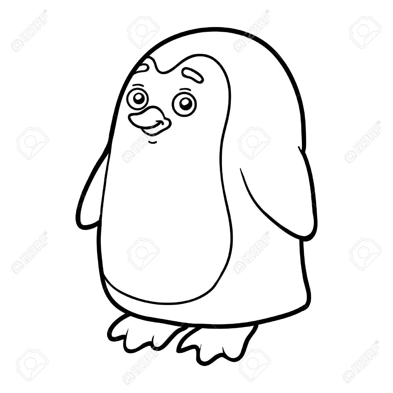 Libro Para Colorear Para Los Niños (pingüino) Ilustraciones ...