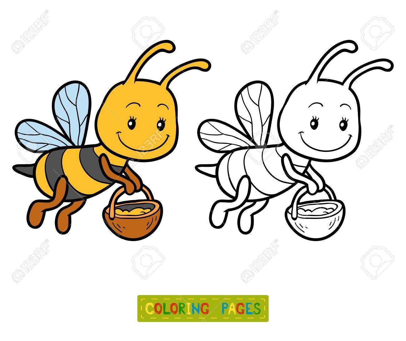 Niedlich Biene Malseite Zeitgenössisch - Beispiel Business ...