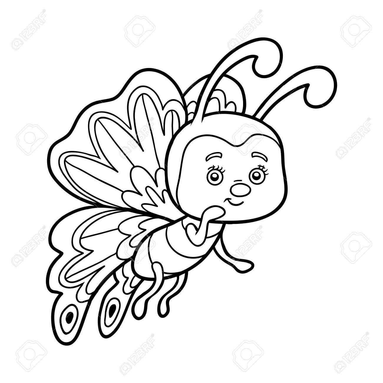 蝶の子供のための塗り絵のイラスト素材ベクタ Image 62153610