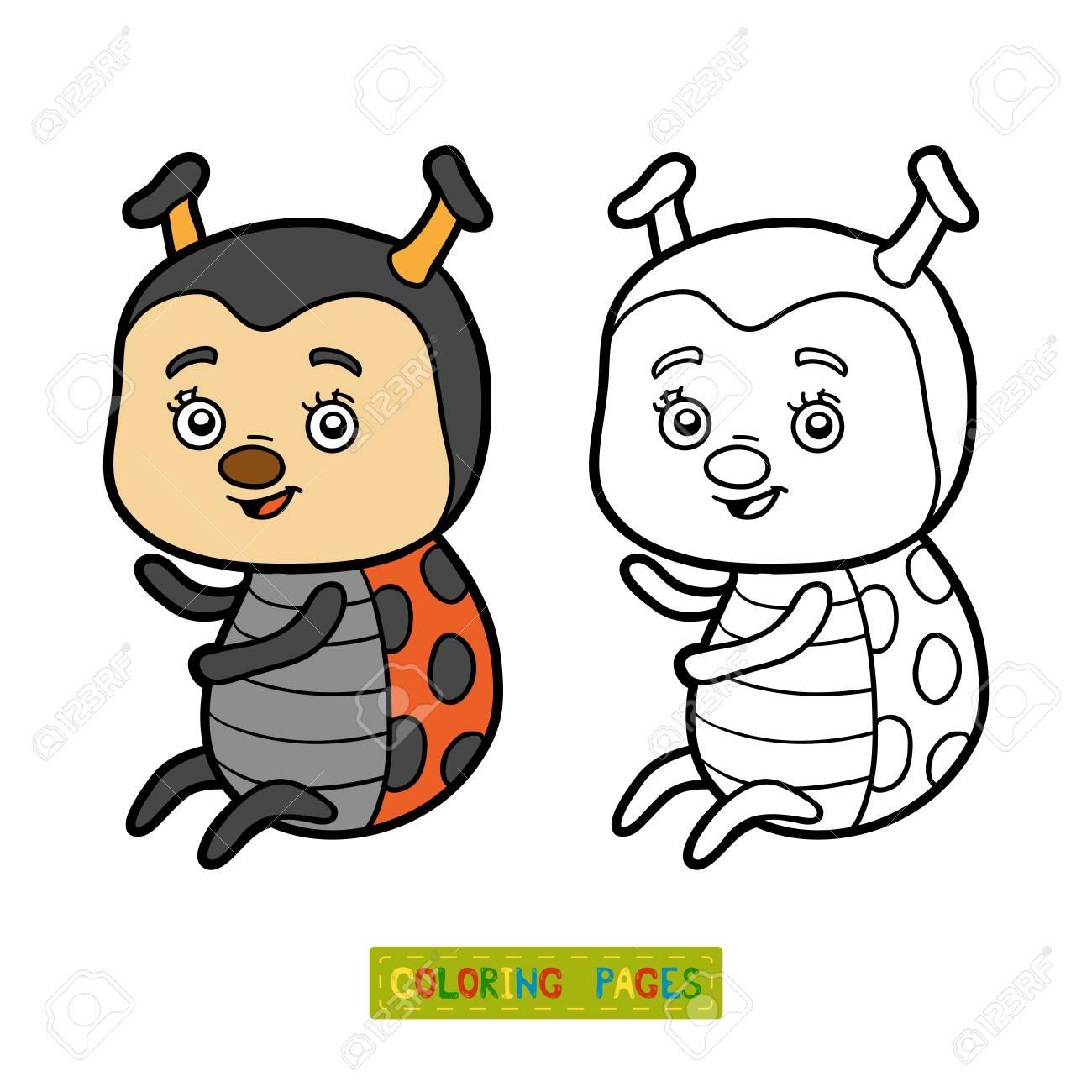 てんとう虫の子供のための塗り絵のイラスト素材ベクタ Image 62153712