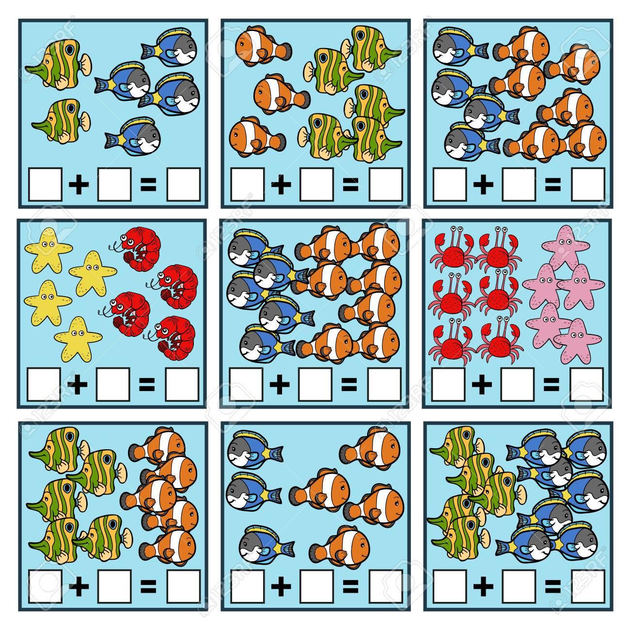 Zählen Spiel Für Vorschulkinder. Educational Ein Mathematisches ...