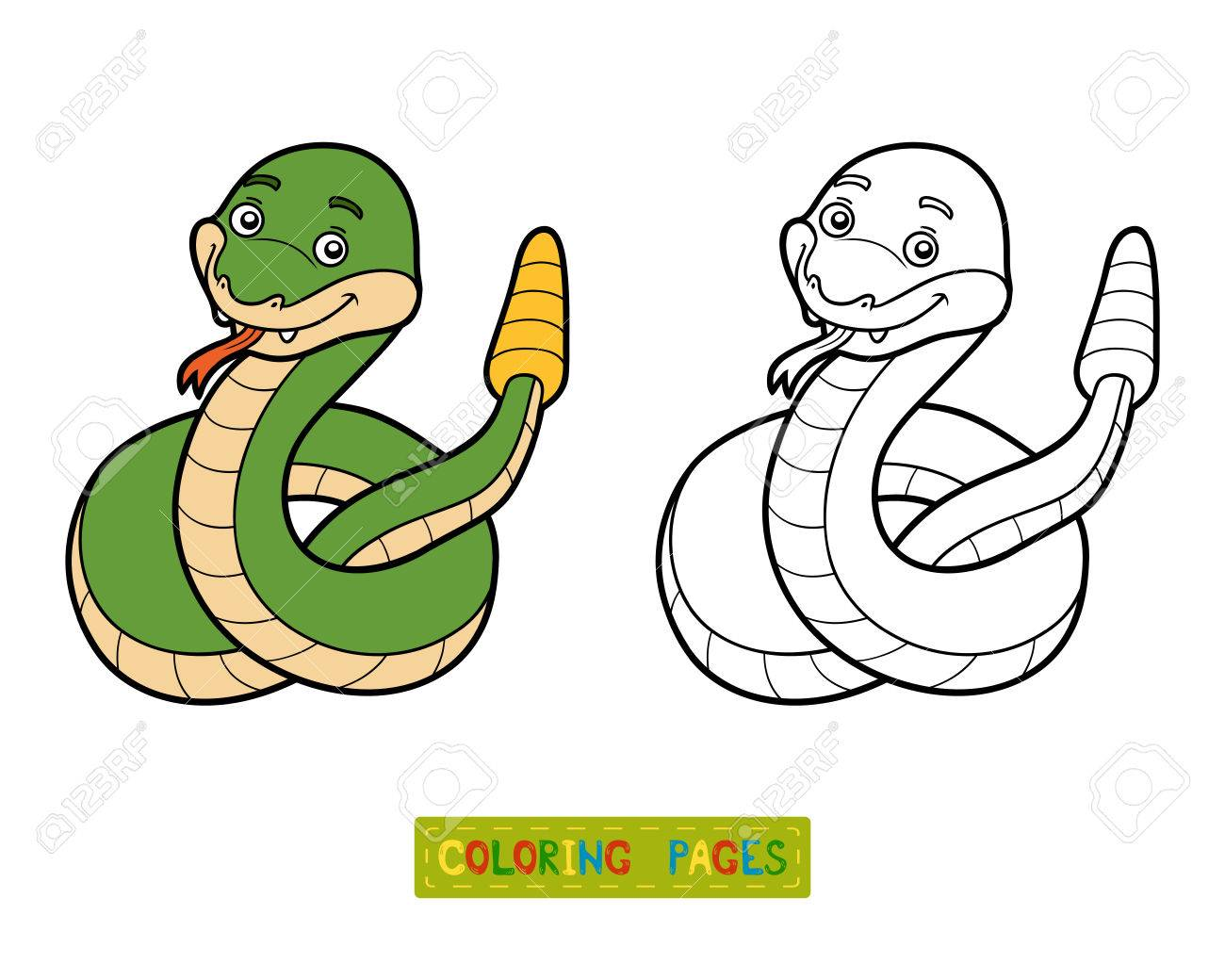 Coloring Book For Children, Rattlesnake Royalty Free Cliparts ...