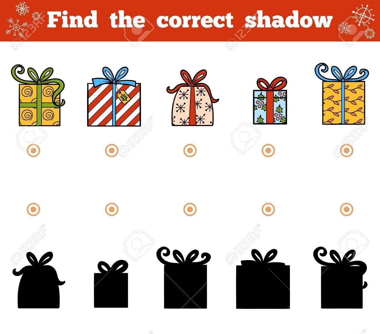 Die Richtigen Weihnachtsgeschenke Finden.Stock Photo