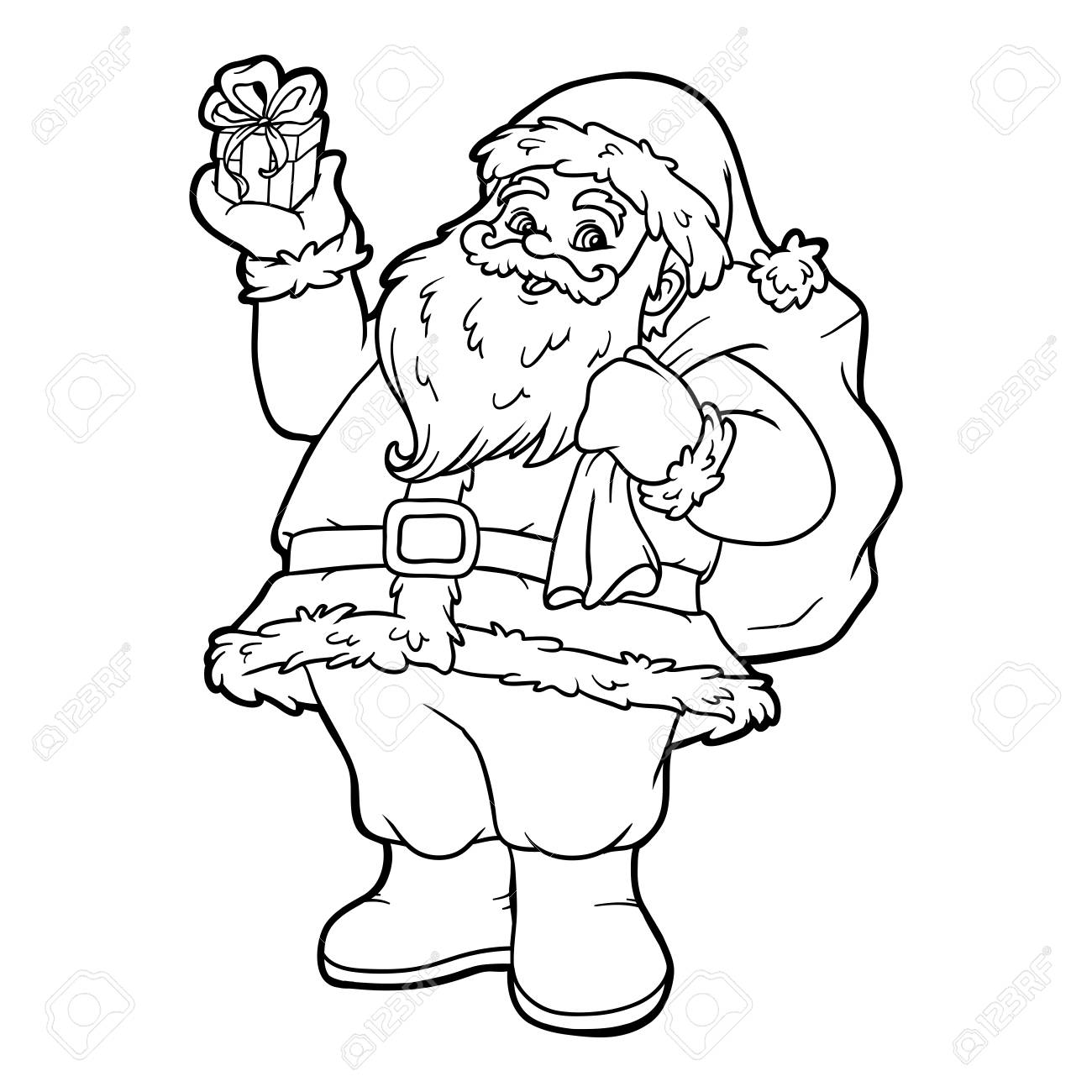 Coloring Book For Children, Santa Claus Royalty Free Cliparts ...