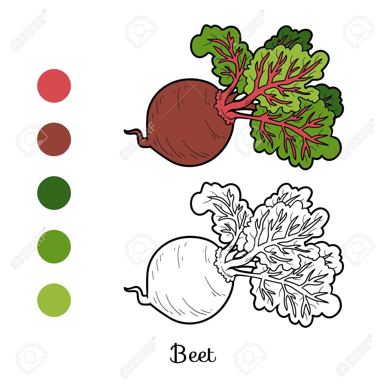 Libro Para Colorear Para Los Niños, Vegetales, Remolacha ...